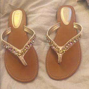 Sparkly rhinestone sandals